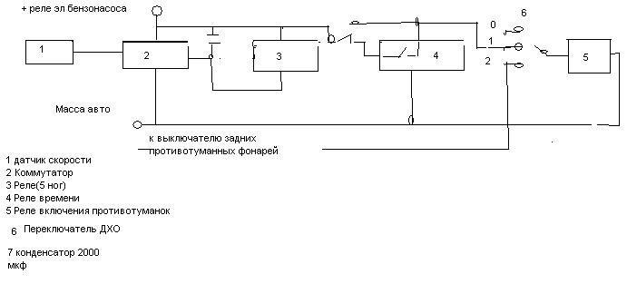 Собрал схему проверил на ВАЗ 2110 работает В качестве ДХО используются штатные противотуманки Собрана из деталей...