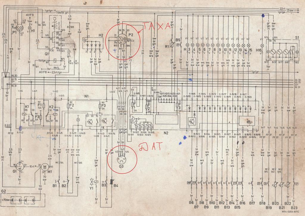 На примере электросхемы MAN.